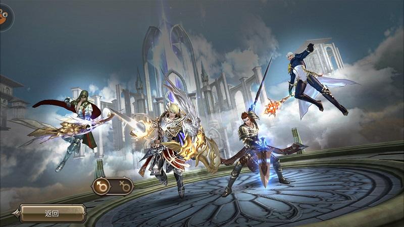游戏职业分男性和女性,男女职业中各有剑士,骑士,法师和弓手四大职业