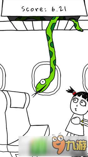 简笔涂鸦风休闲游戏飞机上的蛇上架:航班蛇患怎么办?