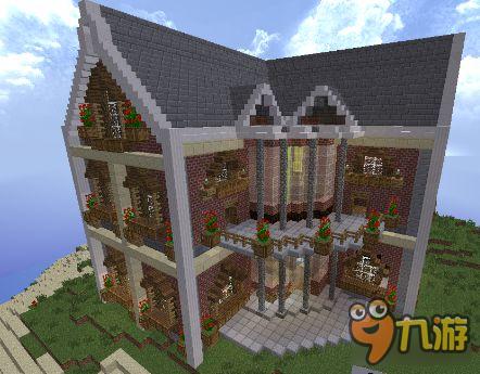 我的世界别墅怎么造 大型别墅建造图文代码下载图片