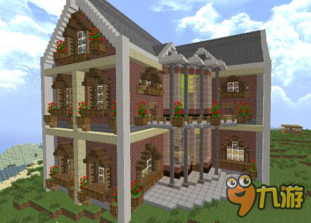 我的世界别墅怎么造 大型别墅建造图文代码下载