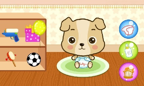 可爱的小熊游戏的女孩
