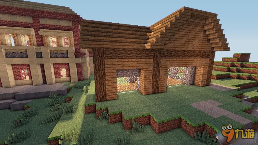 我的世界精美别墅建造图文介绍  大家应该看到了,那边有个小木屋,没