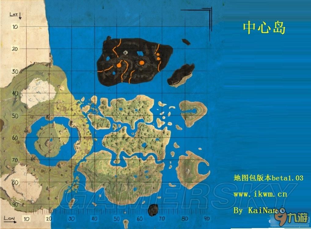 《方舟:生存进化》各岛地图及资源分布一览