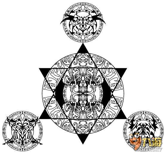 《阴阳师》现世召唤阵打印 现世召唤阵创意图片