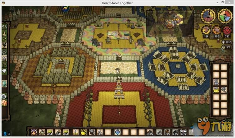 饥荒怎么建基地饥荒联机版蜂巢形豪华基地设计图一览_九游手机游戏
