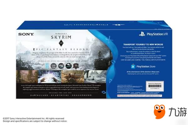 PS4《上古卷轴5:天际》VR版容量曝光 需要19.74GB空间