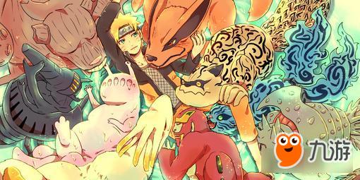 火影忍者九大尾兽和鸣人聚会 九喇嘛怒刷存在感
