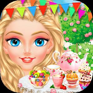灰姑娘小公主的下午茶 - 兒童甜品制作和女生服裝化妝游戲