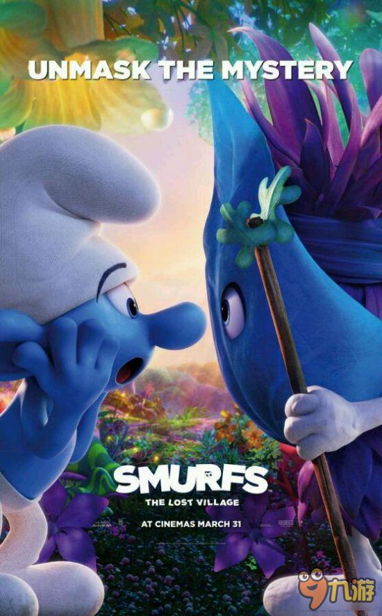 动画电影《蓝精灵:失落的村庄》角色海报公开 神秘精灵身份曝光