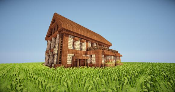 如何建造我的世界简易房子两层小别墅