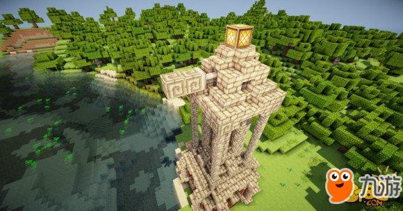 如何建造 我的世界中国版 简易建筑附属建筑风车图片