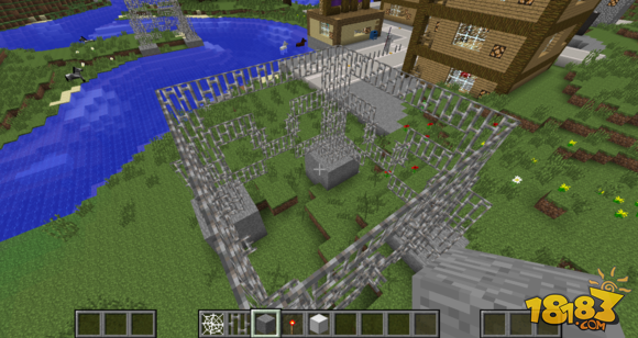 如何建造 我的世界中国版 简易建筑附属建筑电线塔图片