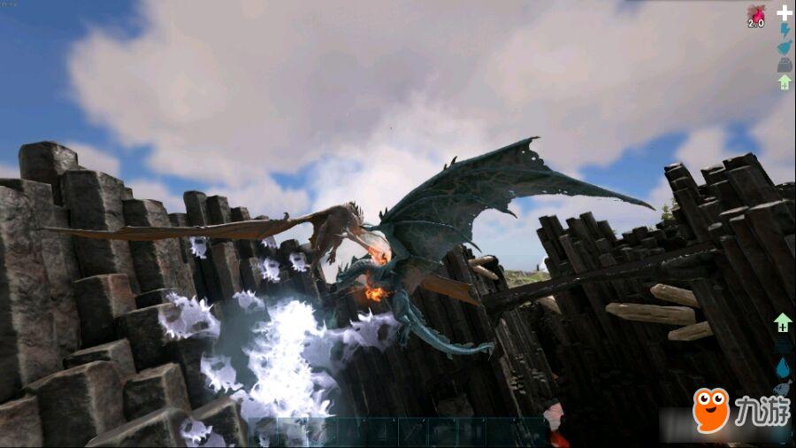 方舟生存进化:风神翼龙版的空中城堡,来一场说走就走的旅行吧
