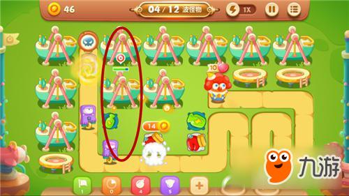 保卫萝卜3手游冒险模式游乐场 第31关金萝卜攻略