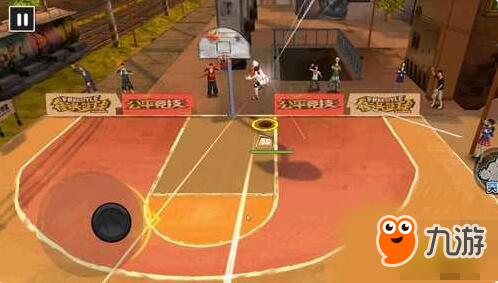 街头篮球手游怎么拉杆上篮 拉杆上篮操作技巧