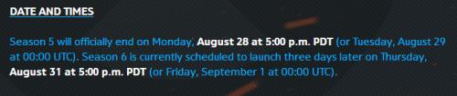 《守望先锋》竞技点结算表查询地址 第五赛季8月29日即将结束