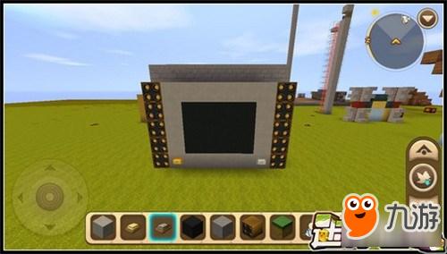 迷你世界怎么做电视机?电视机怎么造?如果在自己建筑的家中,摆放一台电视机,是不是很拉风?那么电视机要怎么做呢,一起来看看迷你世界电视机制作方法教程吧! 电视机制作需要材料 :黑色硬沙块、方块(自己喜欢的颜色)、按钮、发射器、开关。 首先,用你喜欢的颜色方块做方块,比如岩石砖,然后在中间发一个黑色硬沙块,做电视屏幕,如下图: