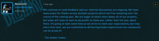 暴雪确认《暗黑破坏神》多个新项目,2019年公开