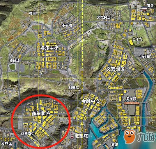 《荒野行动》都市阵线哪里资源多 新地图热门资源点介绍
