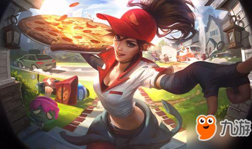 LOL愚人节皮肤送披萨的小姐姐希维尔游戏特效展示