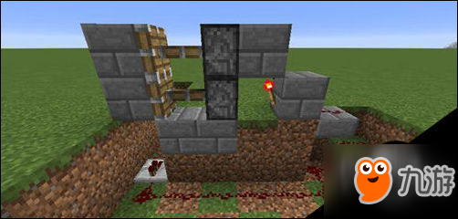 在我的世界游戏中怎么设置防盗门?
