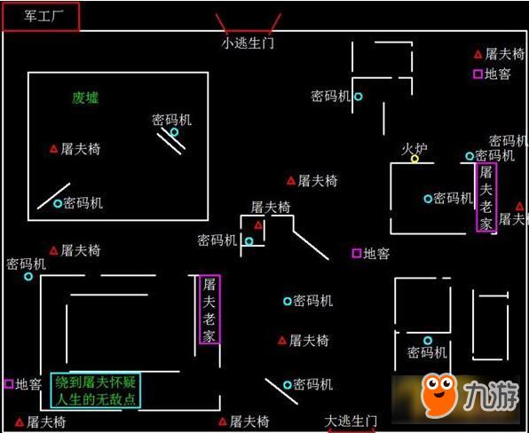 《第五人格》军工厂医院红教堂地窖分布一览 地窖地图刷新位置