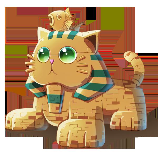 狮身猫面像的出身更像是一个玩笑,是一只被法老王部下搞错的猫.