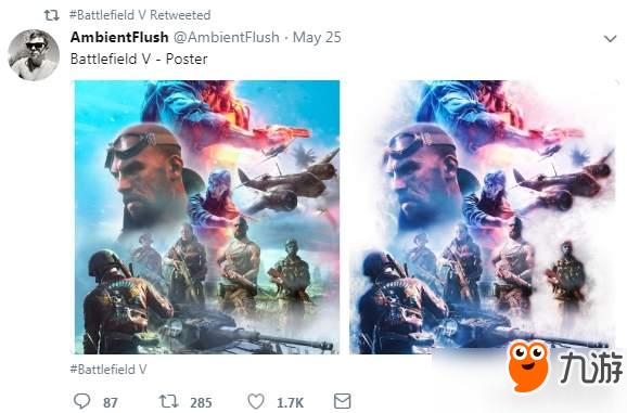 玩家自制《战地5》海报 效果出色获官方点赞分享