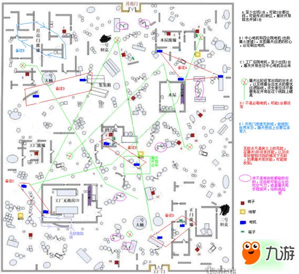 第五人格地图开局线路划分 屠夫躲避路线解析