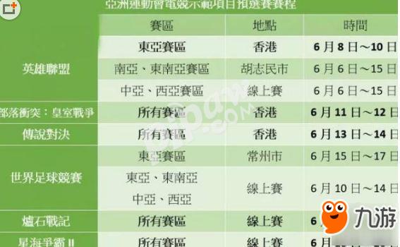 2018亚运会电竞比赛将开战!时间/赛程表/直播地址/名单