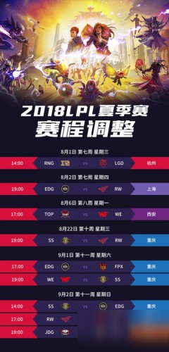 《lol》2018lpl夏季赛赛程 2018lpl夏季赛赛程时间表分享