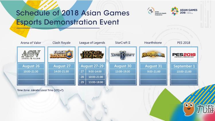 2018亚运会lol赛程表一览 什么时候开始