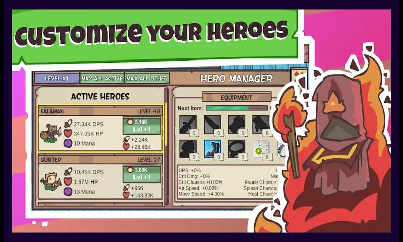 Idle Hero Defense好玩吗 Idle Hero Defense玩法简介