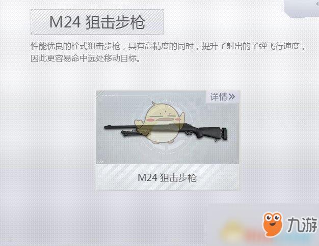 《荒野行动Plus》M24狙击步枪介绍 M24狙击步枪属性介绍