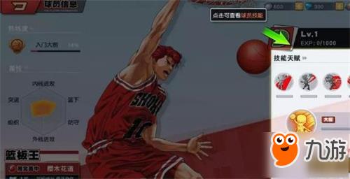 灌篮高手手游天赋作用一览