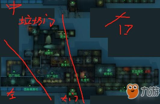 第五人格疯人院地图有什么技巧 疯人院地图房间分布