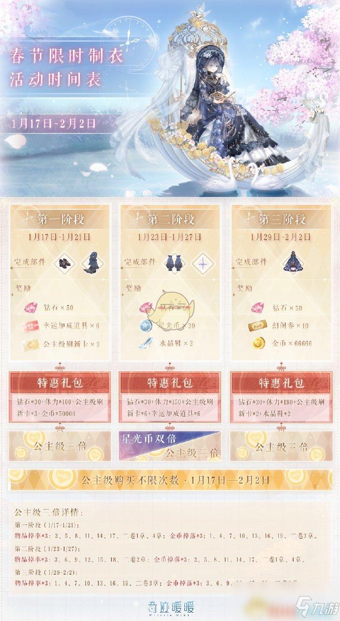 《奇迹暖暖》春节限时制衣活动内容介绍