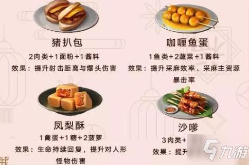明日之后新春料理大赛攻略 春节食谱配方一览