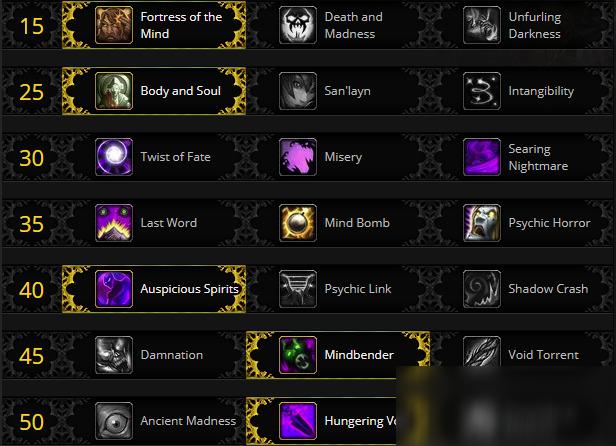 《魔兽世界》9.0前夕暗牧攻略 天赋选择推荐