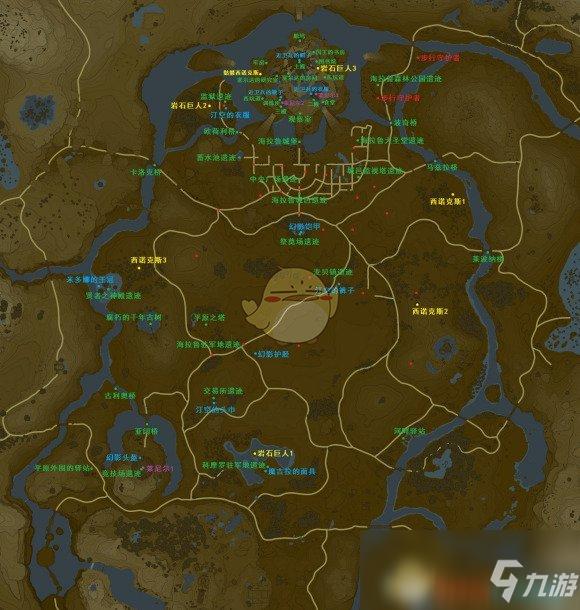 《塞尔达传说旷野之息》平原之塔有哪些资源 全资源获取点一览