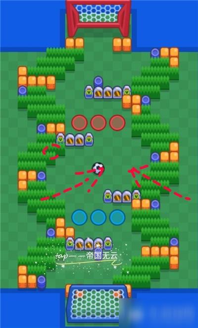 《荒野乱斗》弯曲竞技场地图怎么玩 弯曲竞技场地图站位分析