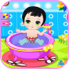 游戏婴儿洗澡游戏女孩