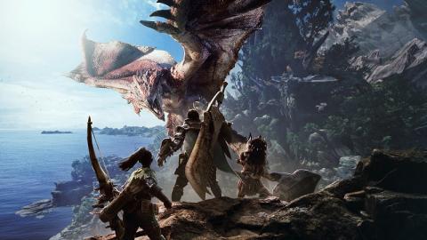 怪物猎人世界赤龙太刀配黑龙
