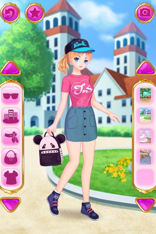 时尚女孩的装扮秀
