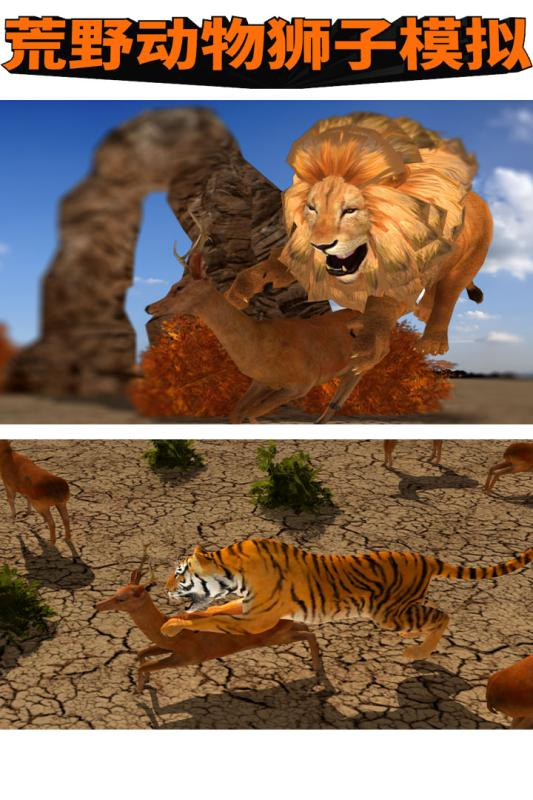 荒野动物狮子模拟