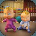 真实母亲3D新天生的双胞胎宝宝