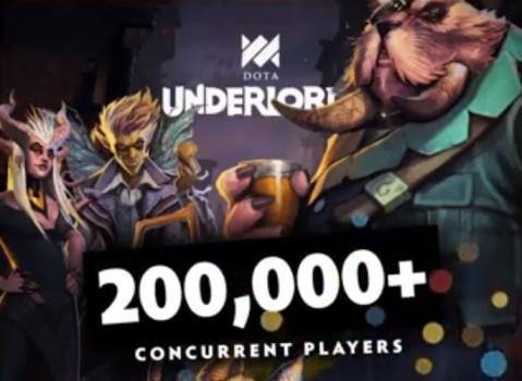 刀塔霸业Steam同时在线破20万人