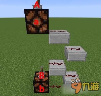 《我的世界》由拉杆、红石、红石灯、石台阶组成装置正确说法