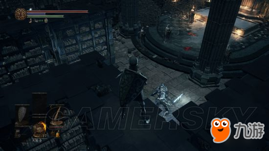 《黑暗之魂3》大书库征战骑士简易打法 压级小号怎么打大书库征战骑士