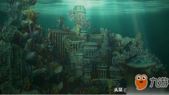 《我的世界》的亚特兰蒂斯 这种规模才配得上海王